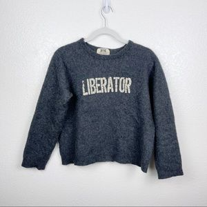 """Juicy Couture """"Liberator"""" Gray Cashmere Sweater"""